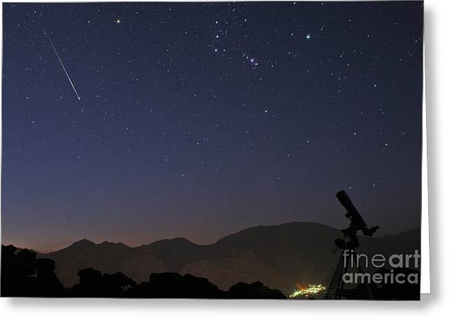 Perseid Photographs Greeting Cards - Perseid Meteor Shower Greeting Card by Babak Tafreshi