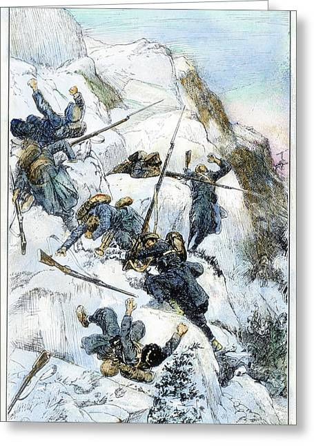 Peru Battle Of Ayacucho Greeting Card by Granger