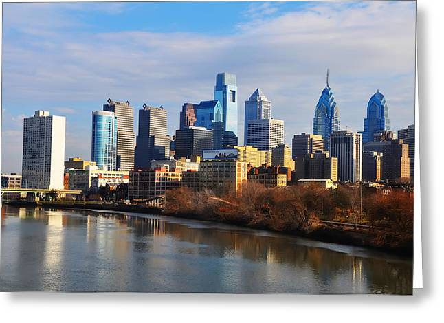 Philadelphia Greeting Cards - Philadelphia Cityscape Greeting Card by Bill Cannon