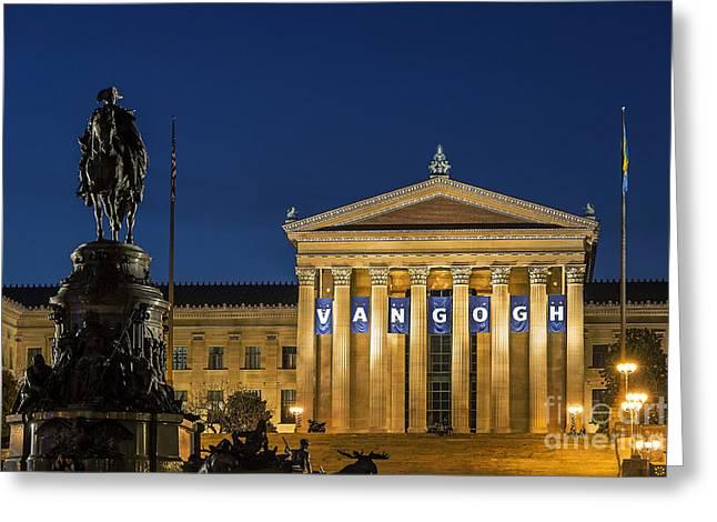 Eakins Oval Greeting Cards - Philadelphia Museum of Art Greeting Card by John Greim