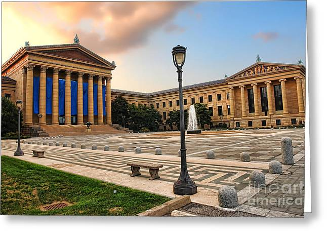 Philadelphia Greeting Cards - Philadelphia Museum of Art Greeting Card by Olivier Le Queinec