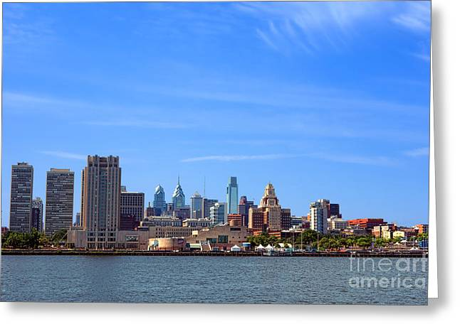 Center City Greeting Cards - Philadelphia Greeting Card by Olivier Le Queinec