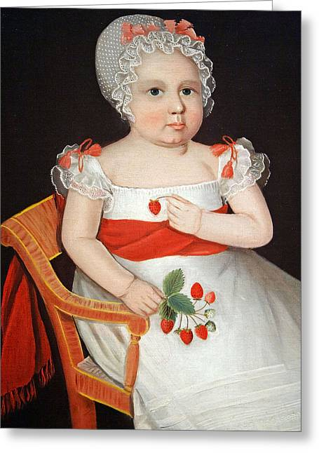 Cora Wandel Greeting Cards - Phillips The Strawberry Girl Greeting Card by Cora Wandel