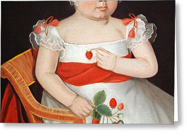 Phillips' The Strawberry Girl Greeting Card by Cora Wandel
