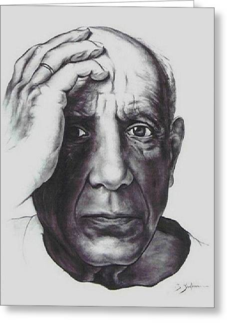 Workshop Guillaume Art Gallery Greeting Cards - Picasso Greeting Card by Guillaume Bruno