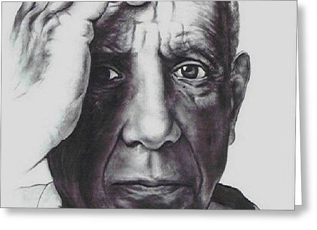 Picasso Greeting Card by GUILLAUME BRUNO
