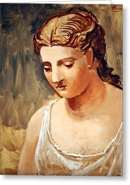 Pablo Picasso Photographs Greeting Cards - Picassos Classical Head Greeting Card by Cora Wandel