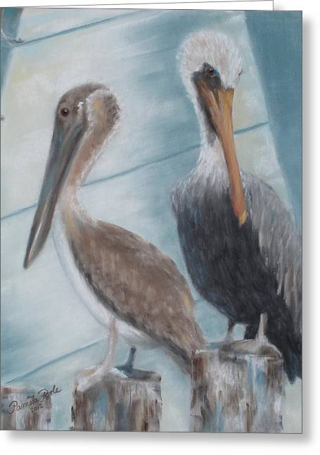 Mt. Pleasant Sc Greeting Cards - Pier Pals Greeting Card by Pamela Poole