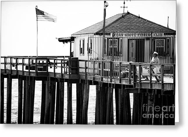 Pier View Greeting Card by John Rizzuto