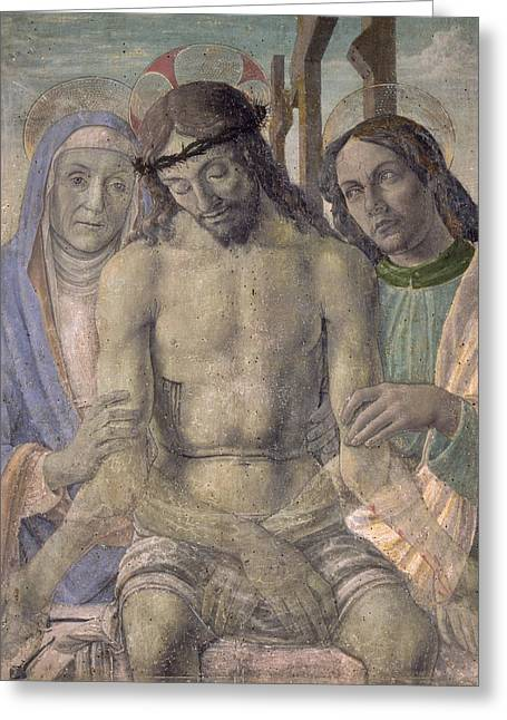 Gospel Greeting Cards - Pieta  Greeting Card by Italian School
