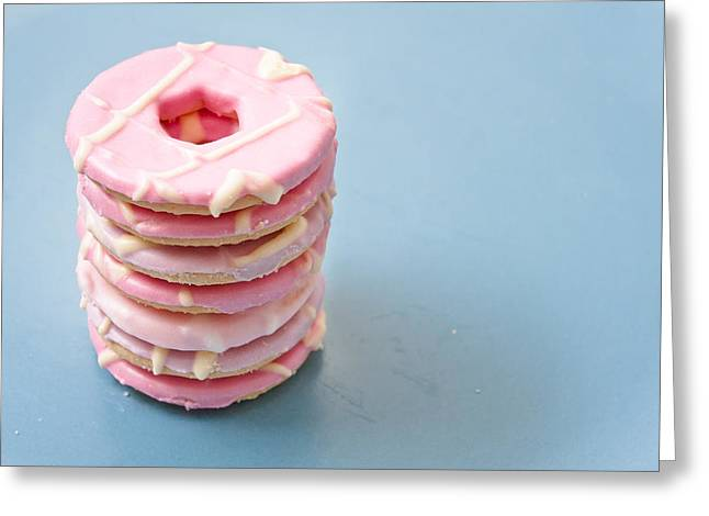 Pink Cookies Greeting Card by Tom Gowanlock
