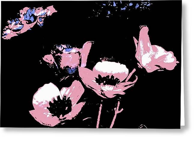 Art Product Drawings Greeting Cards - Pink Ladies Greeting Card by Debra  Barrington