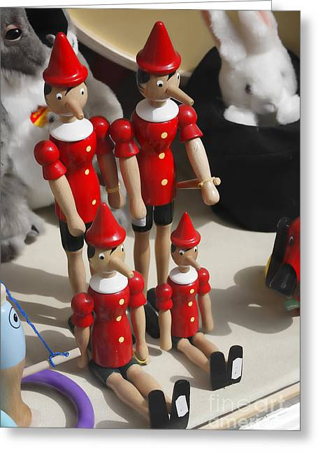 Toy Shop Greeting Cards - Pinocchio Greeting Card by Craig B