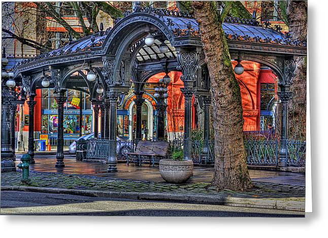 Pioneer Square - Seattle Greeting Card by David Patterson
