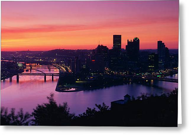 Allegheny River Greeting Cards - Pittsburgh Pa Greeting Card by Panoramic Images