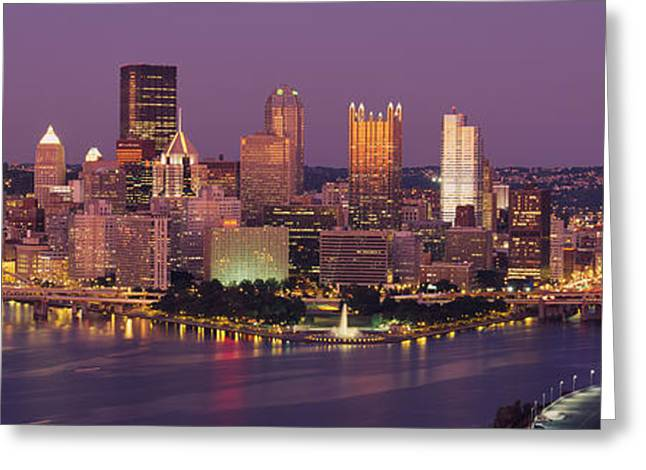 Pa Greeting Cards - Pittsburgh, Pennsylvania, Usa Greeting Card by Panoramic Images