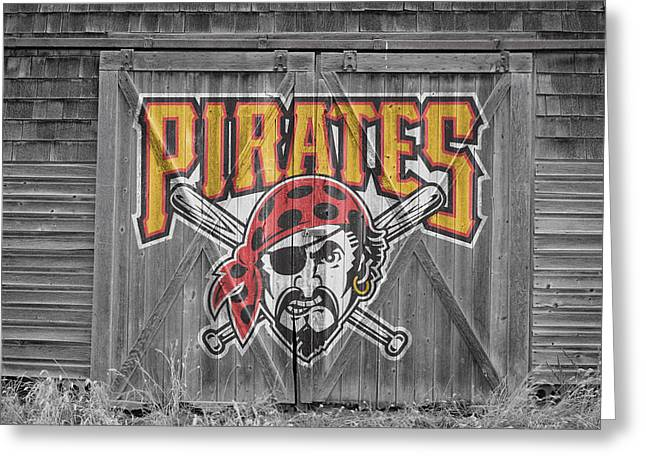 Glove Greeting Cards - Pittsburgh Pirates Greeting Card by Joe Hamilton