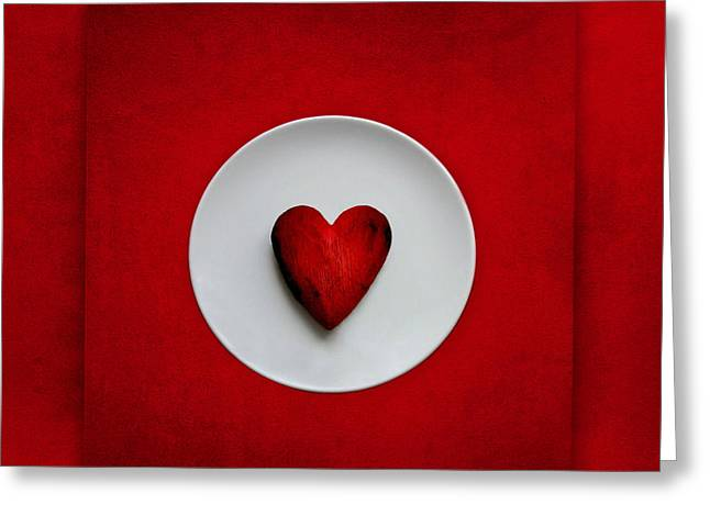 Love Letter Greeting Cards - Place Setting Greeting Card by Heike Hultsch