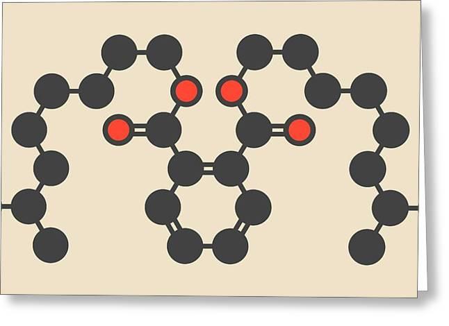 Plasticizer Molecule Greeting Card by Molekuul