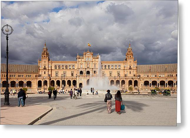 Citizens Greeting Cards - Plaza de Espana Pavilion in Seville Greeting Card by Artur Bogacki
