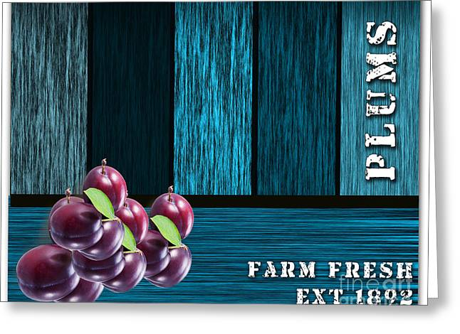 Plums Greeting Cards - Plum Farm Greeting Card by Marvin Blaine