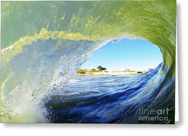 Santa Cruz Surfing Greeting Cards - Point of View Greeting Card by Paul Topp