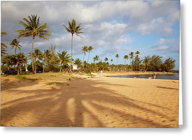 Poipu Beach Park, Poipu, Kauai, Hawaii Greeting Card by Douglas Peebles