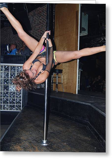 Legs Spread Greeting Cards - Pole danceing Greeting Card by Robert Floyd
