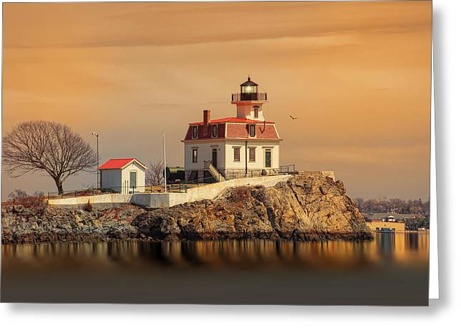 Ledge Greeting Cards - Ponham Rock Light Greeting Card by Robin-lee Vieira