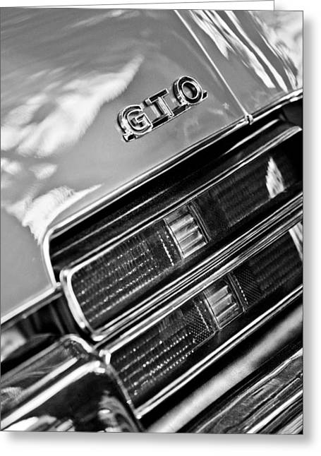 Pontiac Gto Greeting Cards - Pontiac GTO Taillight Emblem Greeting Card by Jill Reger