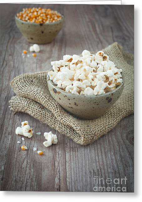Wooden Bowl Greeting Cards - Pop corn Greeting Card by Sabino Parente
