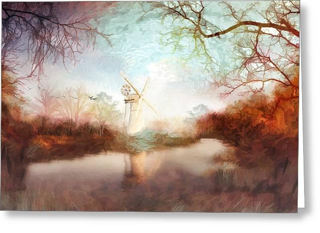 Kelly Greeting Cards - Porcelain skies Greeting Card by Valerie Anne Kelly