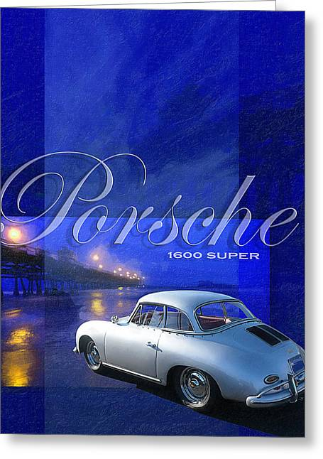 Clemente Greeting Cards - Porsche 1600 Super Greeting Card by Ron Regalado