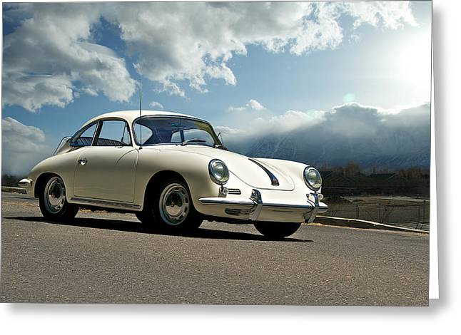 Best Sellers -  - Rally Greeting Cards - Porsche 356 Coupe Greeting Card by Dave Koontz