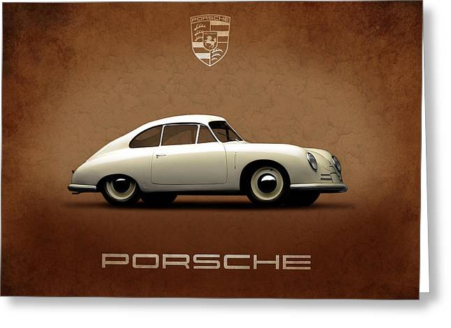 Classic Porsche 911 Greeting Cards - Porsche 356 Greeting Card by Mark Rogan