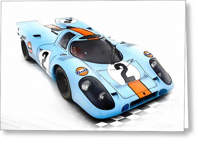 German Race Car Greeting Cards - Porsche 917 Greeting Card by Peter Chilelli