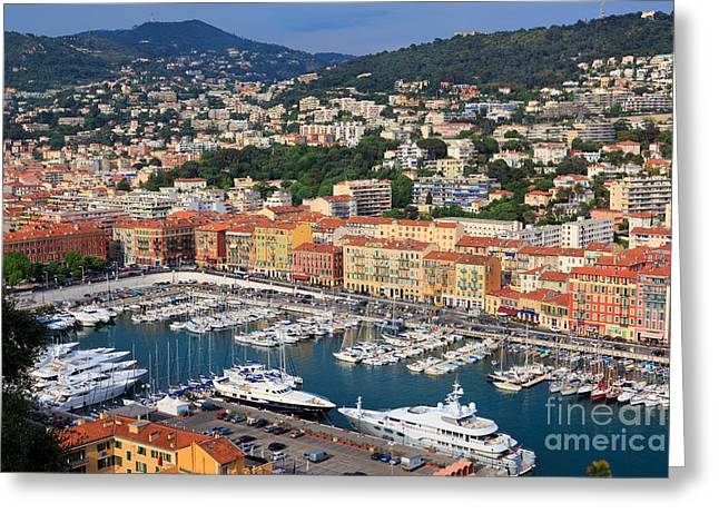 Docked Sailboat Greeting Cards - Port du Nice Greeting Card by Inge Johnsson