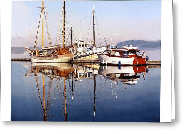 Reflections Port Orchard Marina Greeting Card by Jack Pumphrey