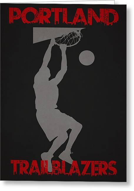 Division Greeting Cards - Portland Trailblazers Greeting Card by Joe Hamilton