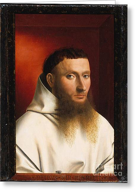 Portrait Of A Carthusian Greeting Card by Celestial Images