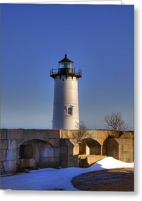 New England Lighthouse Greeting Cards - Portsmouth Harbor Light Greeting Card by Joann Vitali