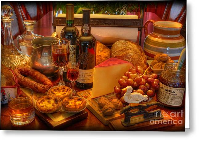 Fresh Bread Greeting Cards - Portuguese Tapas Large Greeting Card by Lee Dos Santos