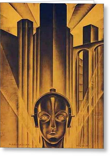 Fritz Greeting Cards - Poster from the film Metropolis 1927 Greeting Card by Anonymous