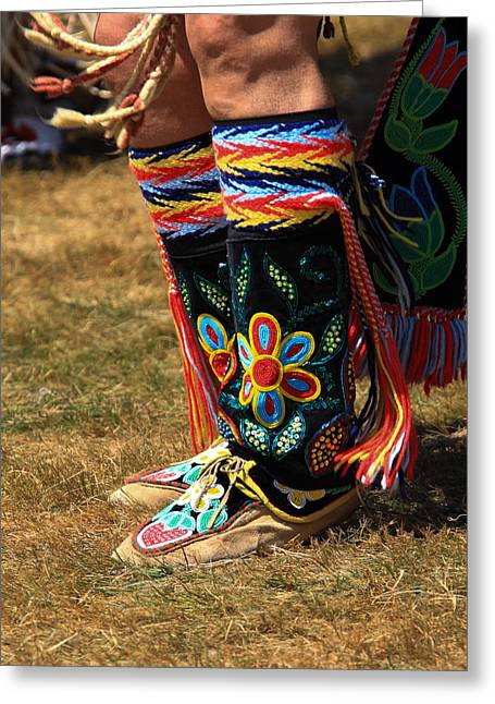 The First Family Photographs Greeting Cards - Pow Wow 65 Greeting Card by Keith R Crowley