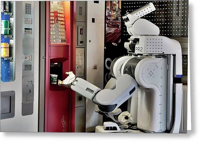 Pr2 Robot Research Greeting Card by Patrick Landmann