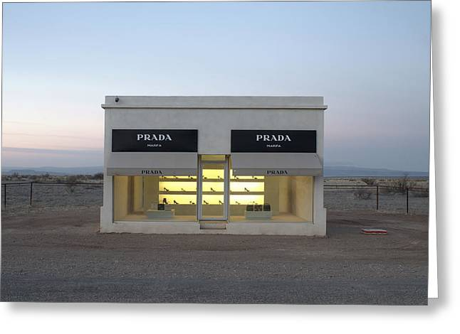 Fashions Greeting Cards - Prada Marfa Greeting Card by Greg Larson