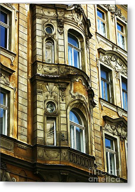 Recently Sold -  - Unique Art Greeting Cards - Prague Architecture Greeting Card by John Rizzuto