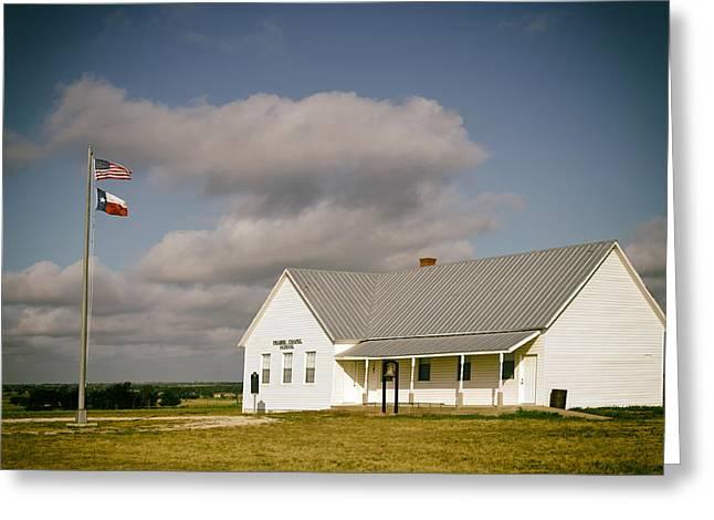 Prairie Photo Greeting Cards - Prairie Chapel School Greeting Card by Mountain Dreams