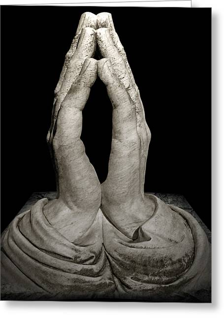 Praying Hands Greeting Cards - Prayer Greeting Card by Steven  Michael
