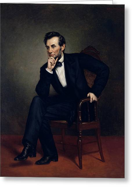 Abraham Paintings Greeting Cards - President Abraham Lincoln Greeting Card by War Is Hell Store